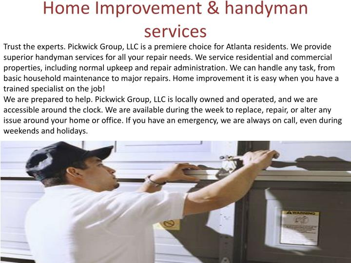 Home Improvement & handyman services