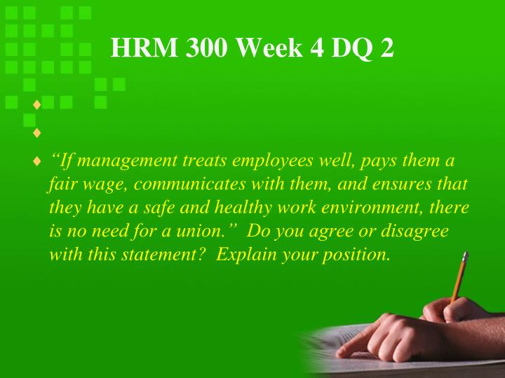 HRM 300 Week 4 DQ 2