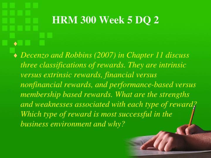 HRM 300 Week 5 DQ 2