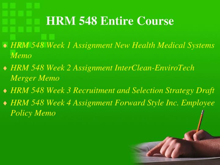 Hrm 548 entire course