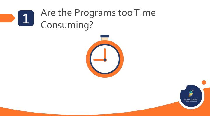 Are the Programs too Time