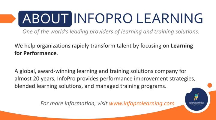INFOPRO LEARNING