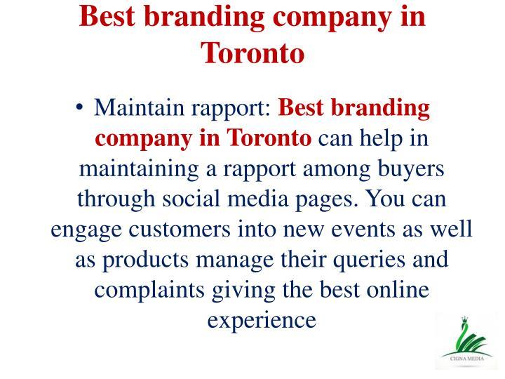 Best branding company in Toronto