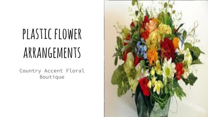 plastic flower arrangements