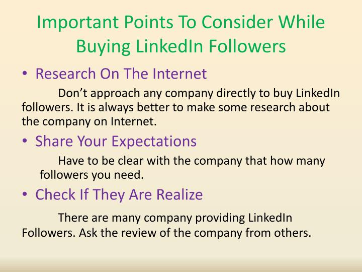 Important Points To Consider While Buying LinkedIn Followers