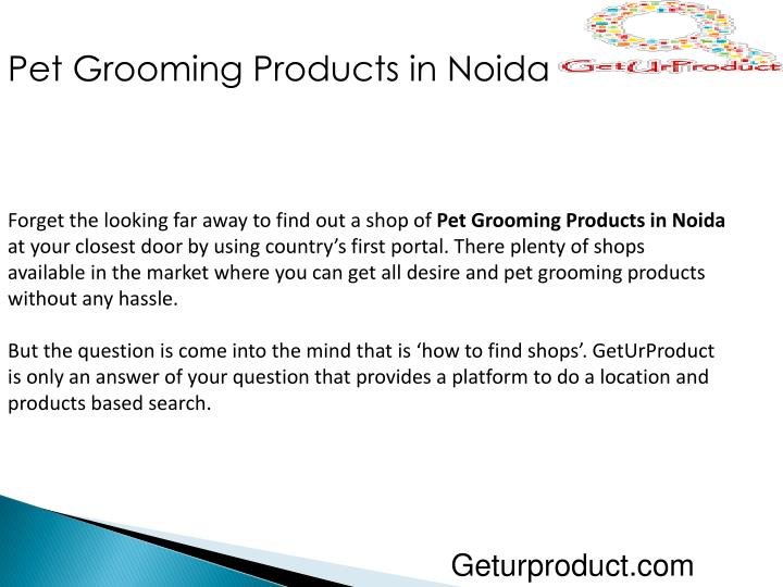 Pet Grooming Products in Noida