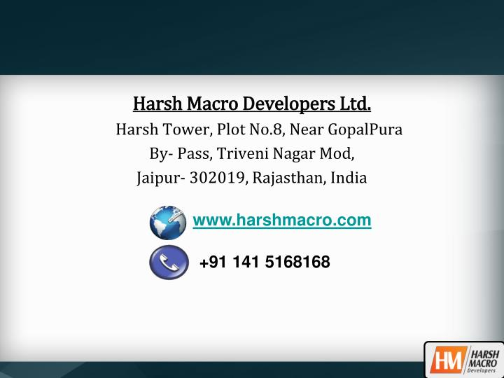 Harsh Macro Developers Ltd.