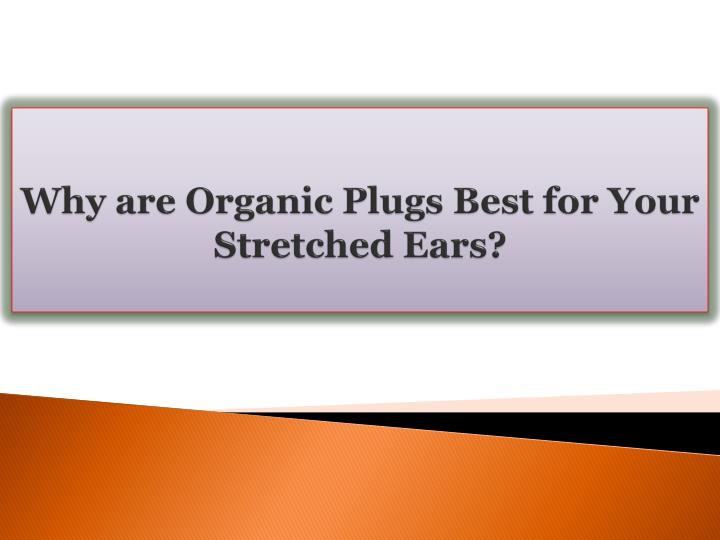 Why are organic plugs best for your stretched ears
