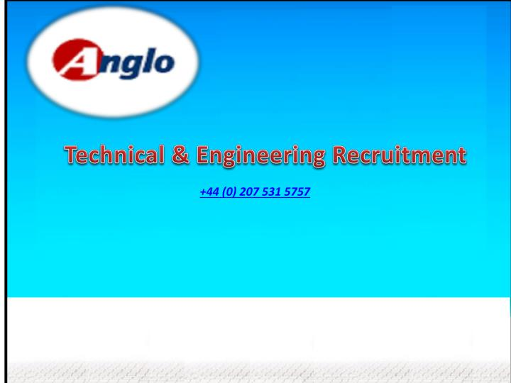 Technical & Engineering Recruitment