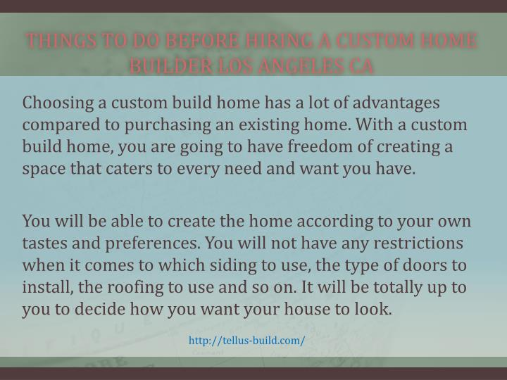Things to do before hiring a custom home builder los angeles ca1