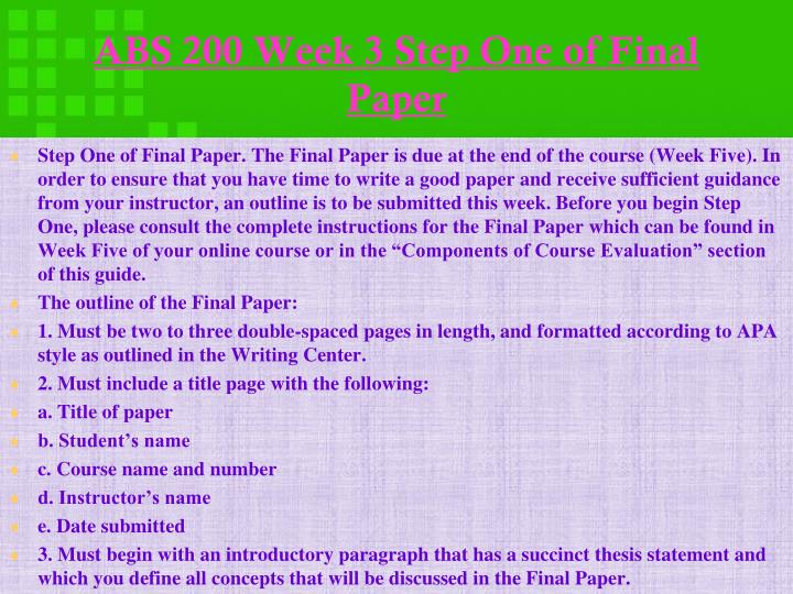 must begin with an introductory paragraph that has a succinct thesis statement Com 325 week 5 final paper - conflicts, conflict effects • must begin with an introductory paragraph that has a succinct thesis statement • must address the.