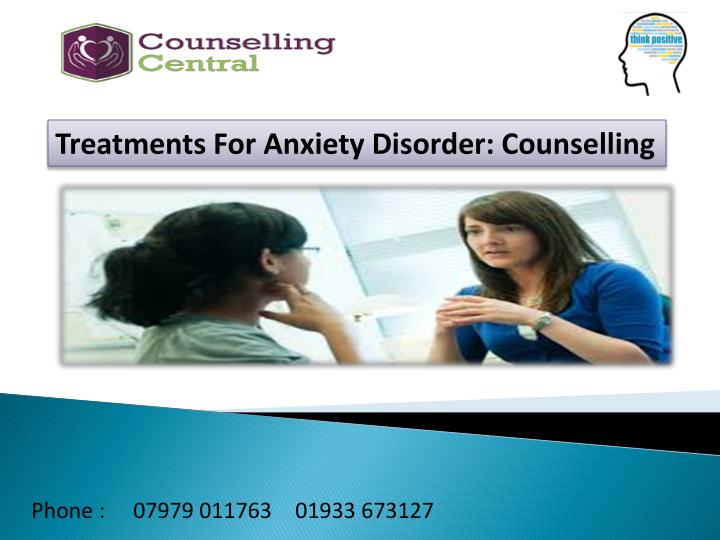 Treatments For Anxiety Disorder: