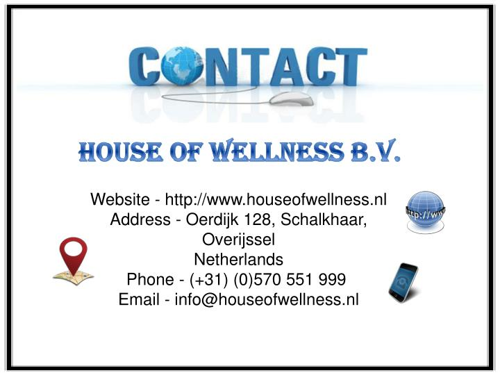 House of Wellness B.V.