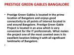 prestige green gables bangalore