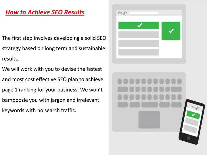 How to Achieve SEO Results