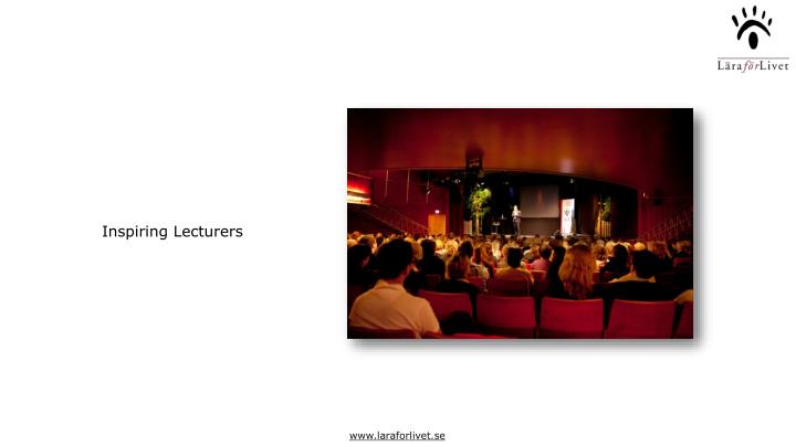 Inspiring Lecturers