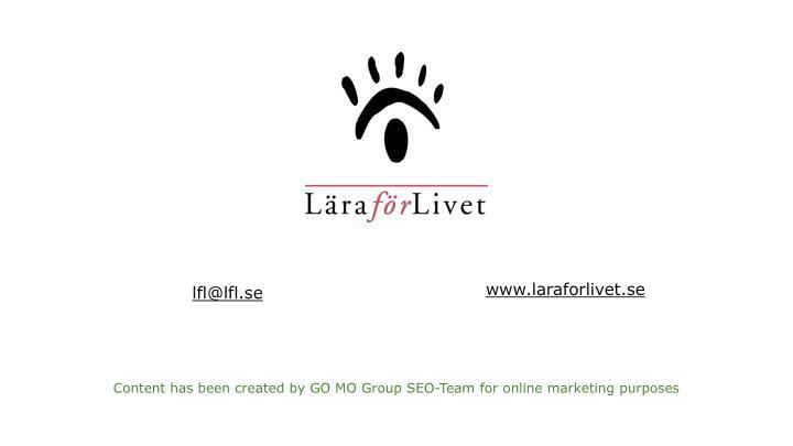www.laraforlivet.se
