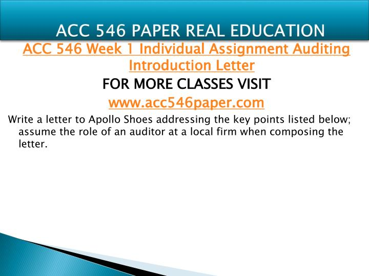 Acc 546 paper real education1