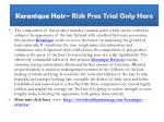 keranique hair risk free trial only hare