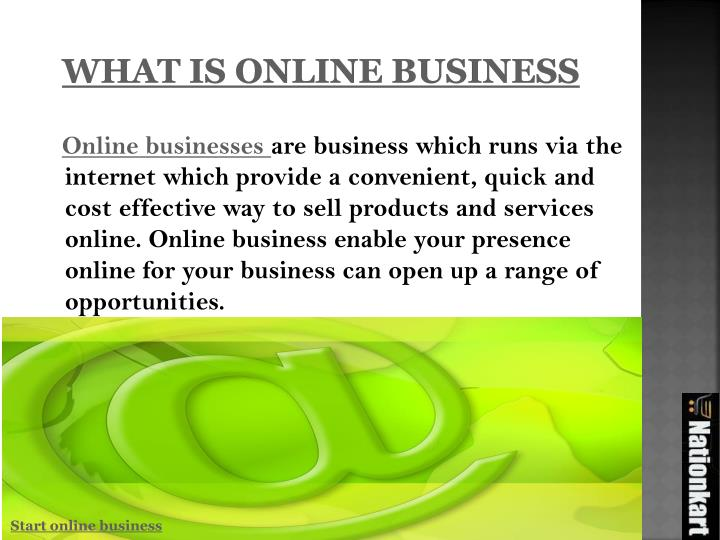 What is online business