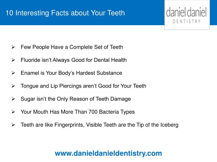 10 Interesting Facts about Your Teeth