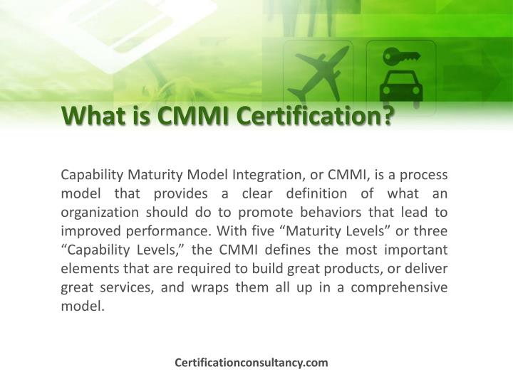 What is CMMI Certification?