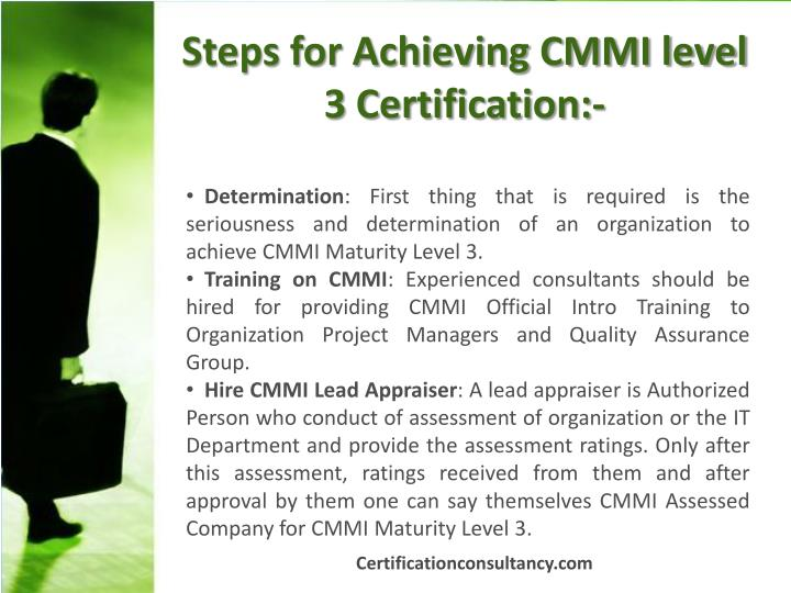 Steps for Achieving CMMI level