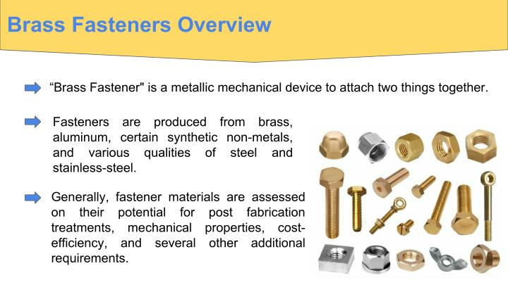 Brass Fasteners Overview