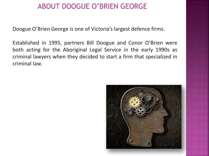 About doogue o brien george