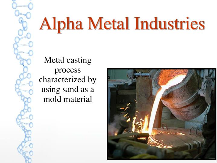 Metal casting process characterized by using sand as a mold material