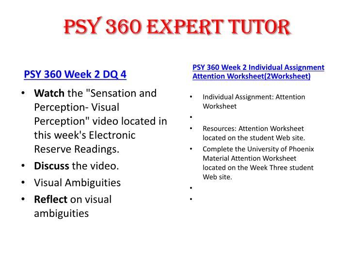 PSY 360 expert tutor