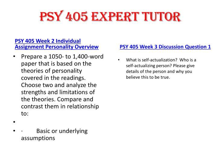 PSY 405 expert tutor