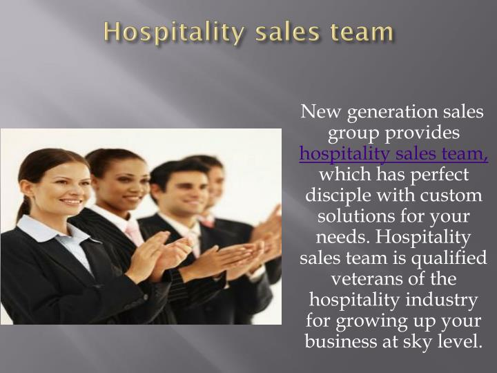 Hospitality sales team