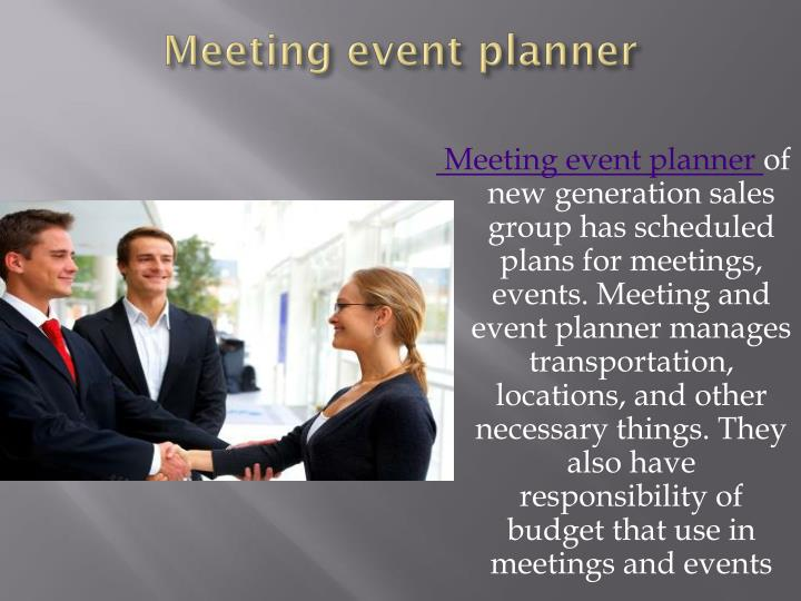 Meeting event planner