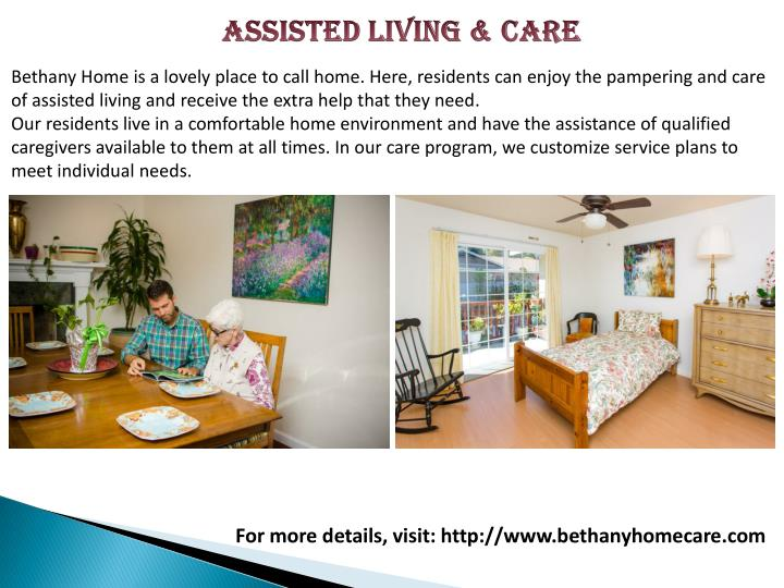 ASSISTED LIVING & CARE