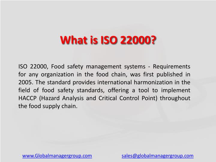 What is ISO 22000?