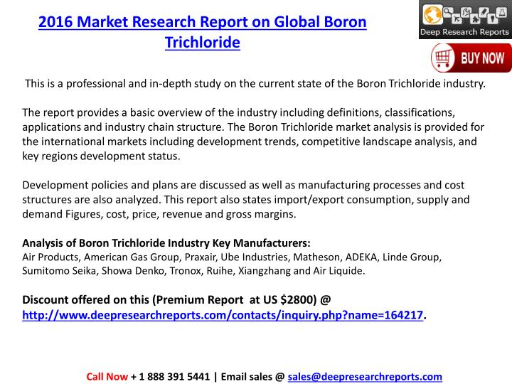 2016 Market Research Report on Global Boron