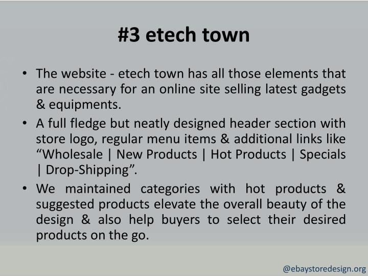 #3 etech town