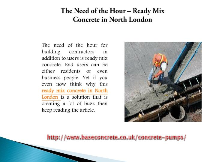 The Need of the Hour – Ready Mix Concrete in North