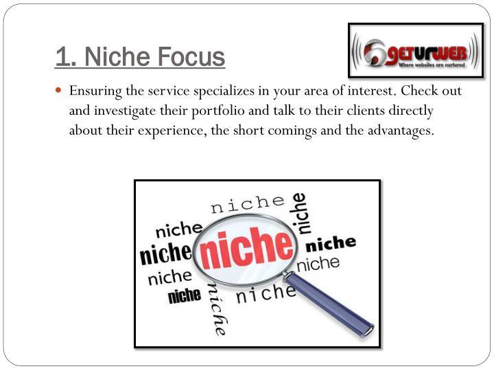 1. Niche Focus