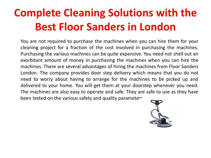Complete cleaning solutions with the best floor sanders in london2