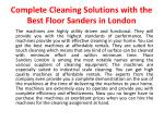 complete cleaning solutions with the best floor sanders in london3