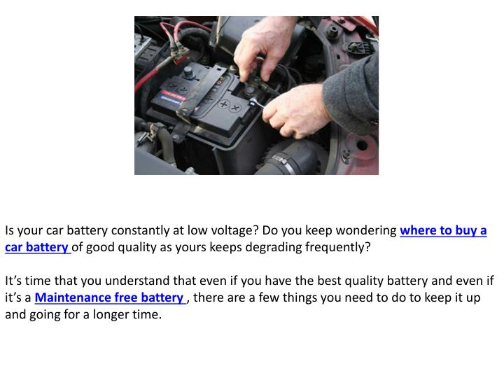 Is your car battery constantly at low voltage? Do you keep wondering