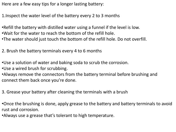 Here are a few easy tips for a longer lasting battery