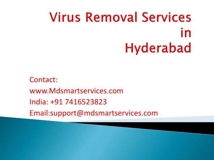 Virus removal services in hyderabad