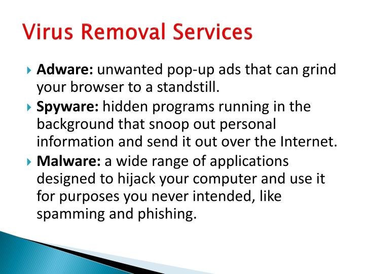Virus removal services1