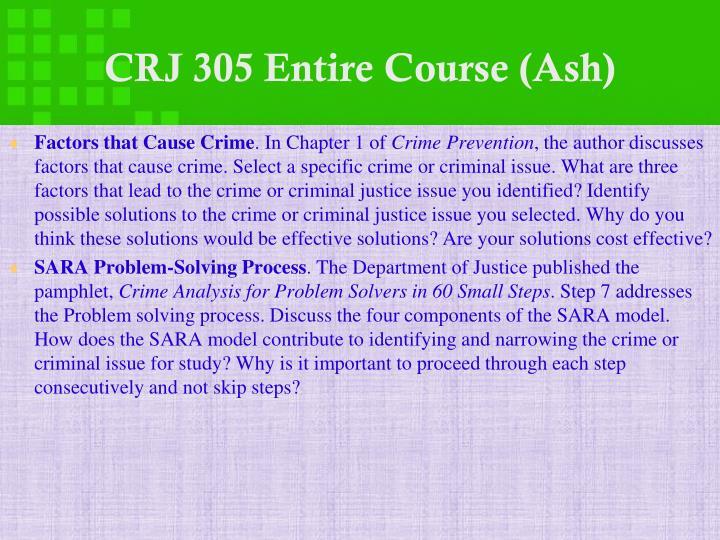 CRJ 305 Entire Course (Ash)