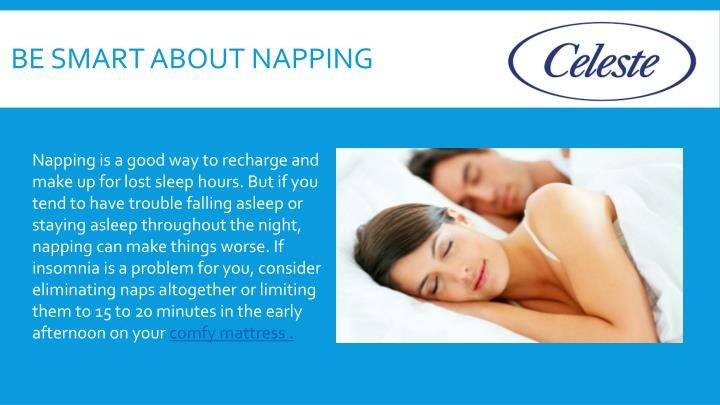 Be smart about napping