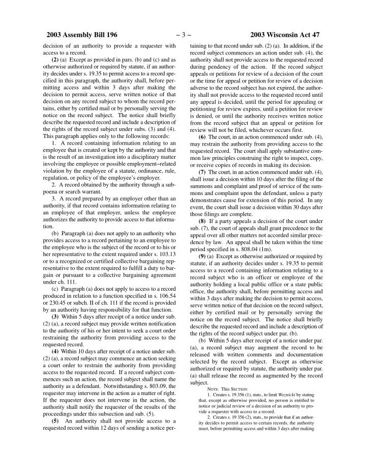 2003 Assembly Bill 196