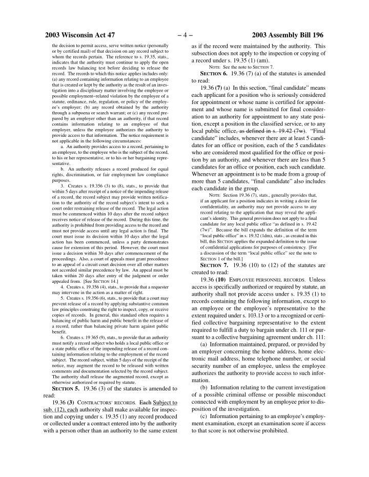 2003 Wisconsin Act 47
